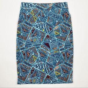 🌷LULAROE Cassie Geometric Print Knit Pencil Skirt